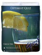 Optimist Quiz Duvet Cover by Lisa Knechtel