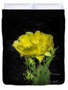Opuntia Robusta Flower Duvet Cover