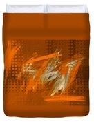 Orange Abstract Art - Orange Filter Duvet Cover