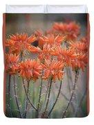 Orange Aloe  Duvet Cover