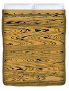 Orange And Black Abstract Duvet Cover