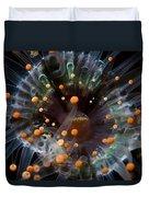 Orange And Black Anemone, Komodo Duvet Cover