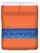 Orange And Blue Morning 4  Duvet Cover