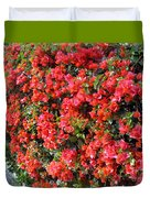Orange And Colral-pink Flowers 2 Duvet Cover
