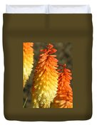 Orange And Gold Flower  Duvet Cover