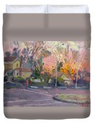 Orange And Pink Sunset Duvet Cover