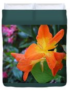 Orange And Yellow Canna Lily 2  Duvet Cover