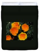 Orange And Yellow Flowers Duvet Cover