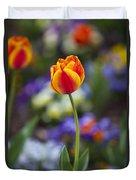 Orange And Yellow Tulip Duvet Cover