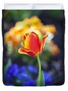 Orange And Yellow Tulip II Duvet Cover