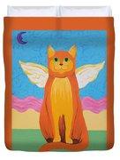Orange Angel Cat Duvet Cover