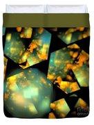 Orange Aqua Honeycomb Duvet Cover