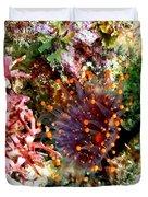Orange Ball Corallimorph Anemone Duvet Cover