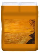 Orange Beach Duvet Cover