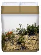 Orange Beach Umbrella  Duvet Cover