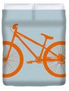 Orange Bicycle  Duvet Cover by Naxart Studio