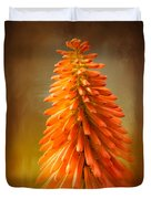 Orange Blast In The Garden Duvet Cover