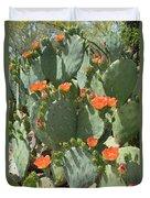 Orange Blossom Cactus  Duvet Cover