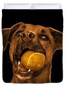 Orange Boxer Mix Dog Art - 8173 - Bb Duvet Cover