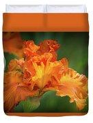 Orange Burst Duvet Cover