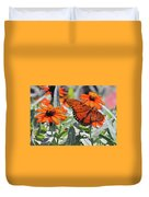 Orange Butterfly Duvet Cover