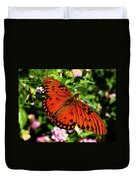 Orange Butterfly Duvet Cover by Valeria Donaldson