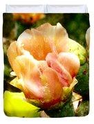 Orange Cactus Blossom Duvet Cover