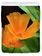 Orange California Poppies Duvet Cover