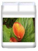 Orange Calla Mix Duvet Cover