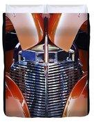 Orange Chevrolet Grille Duvet Cover