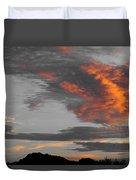 Orange Clouds Duvet Cover