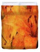 Orange Cluster 9225 Idp_2 Duvet Cover