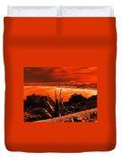 Orange Coast Duvet Cover