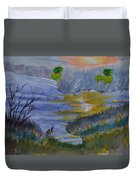 Orange Creek At Sunrise Duvet Cover