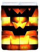 Orange Crown Duvet Cover