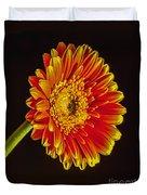 Orange Dahlia Duvet Cover