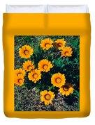 Orange Daisies--film Image Duvet Cover