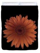Orange Daisy Front Duvet Cover