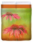 Orange Daisy Splash Duvet Cover