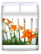 Orange Daylily At Colonial Williamsburg Duvet Cover