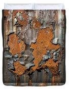 Orange Decay Duvet Cover