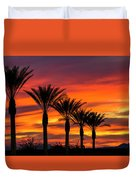 Orange Dream Palm Sunset  Duvet Cover