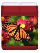 Orange Drift Monarch Butterfly Duvet Cover