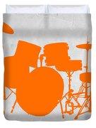 Orange Drum Set Duvet Cover