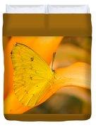 Orange Emigrant Butterfly Duvet Cover