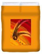Orange Expressions Duvet Cover