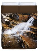 Orange Falls Duvet Cover by Chad Dutson