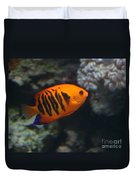 Orange Fish Duvet Cover