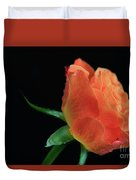 Orange Flame Rose Duvet Cover by Tracy Hall