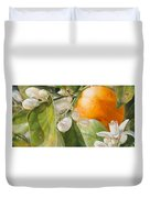 Orange Fleurie Duvet Cover